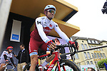 Alexander Kristoff (NOR) Team Katusha Alpecin at sign on in Dusseldorf before the start of Stage 2 of the 104th edition of the Tour de France 2017, running 203.5km from Dusseldorf, Germany to Liege, Belgium. 2nd July 2017.<br /> Picture: Eoin Clarke | Cyclefile<br /> <br /> <br /> All photos usage must carry mandatory copyright credit (&copy; Cyclefile | Eoin Clarke)