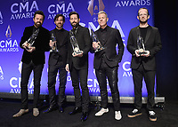 NASHVILLE, TN - NOVEMBER 13:  Old Dominion in the press room at the 53rd Annual CMA Awards at the Bridgestone Arena on November 13, 2019 in Nashville, Tennessee. (Photo by Scott Kirkland/PictureGroup)