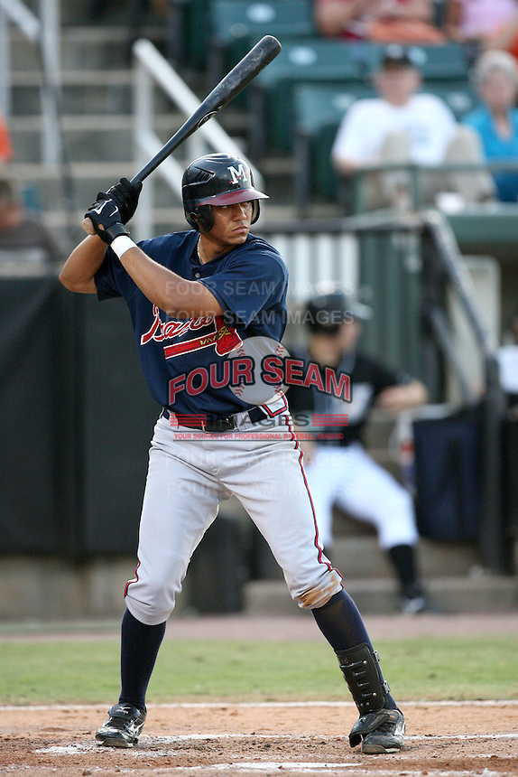 July 2, 2009: Mississippi Braves outfielder Concepcion Rodriquez (43) at Pringles Park in Jackson, TN. The Mississippi Braves are the Southern League AA affiliate of the Atlanta Braves. Photo by: Chris Proctor/Four Seam Images