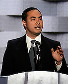 United States Representative Joaquin Castro (Democrat of Texas) makes remarks during the fourth session of the 2016 Democratic National Convention at the Wells Fargo Center in Philadelphia, Pennsylvania on Thursday, July 28, 2016.<br /> Credit: Ron Sachs / CNP<br /> (RESTRICTION: NO New York or New Jersey Newspapers or newspapers within a 75 mile radius of New York City)