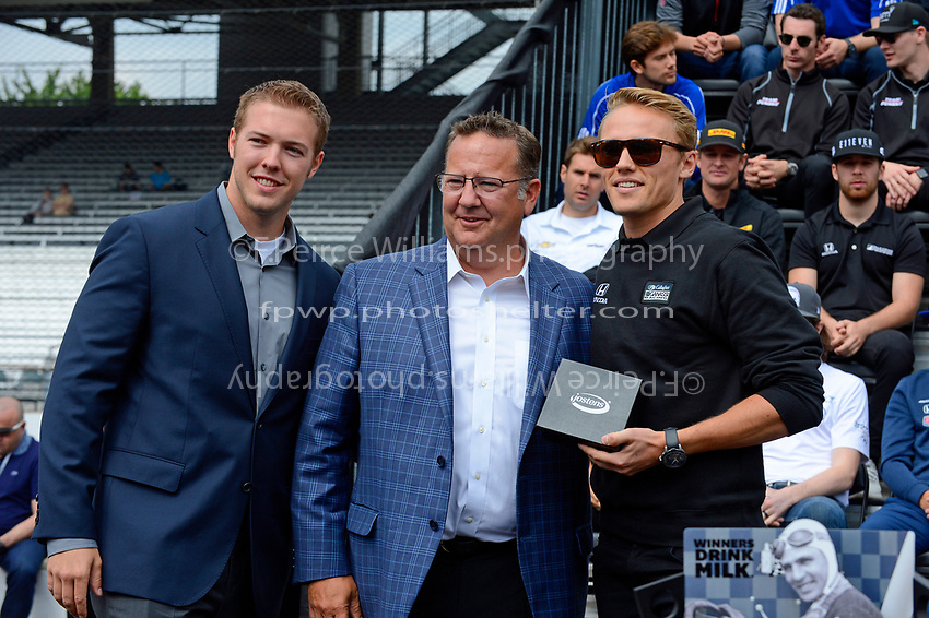 Verizon IndyCar Series<br /> Indianapolis 500 Drivers Meeting<br /> Indianapolis Motor Speedway, Indianapolis, IN USA<br /> Saturday 27 May 2017<br /> Starter's ring presentation: Max Chilton, Chip Ganassi Racing Teams Honda<br /> World Copyright: F. Peirce Williams