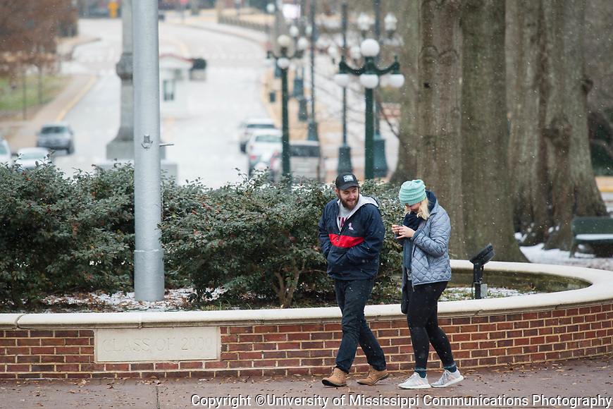 Snow day.  Photo by Kevin Bain/University Communications Photography