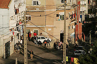 Street of Cova da Moura, a rundown suburb of Lisbon 23 January 2008. Cova da Moura is home to a large African population.