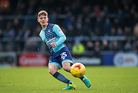 Dominic Gape of Wycombe Wanderers in action during the Sky Bet League 2 match between Wycombe Wanderers and Yeovil Town at Adams Park, High Wycombe, England on 14 January 2017. Photo by Andy Rowland / PRiME Media Images.