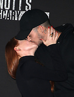 BUENA PARK, CA - SEPTEMBER 29: Madelaine Petsch, Travis Mills, at Knott's Scary Farm & Instagram's Celebrity Night at Knott's Berry Farm in Buena Park, California on September 29, 2017. Credit: Faye Sadou/MediaPunch