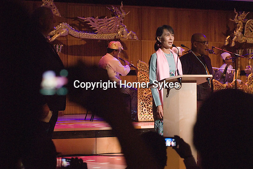 Aung San Suu Kyi. Meeting with the people of Burma at the Royal Festival Hall London UK 22 June 2012