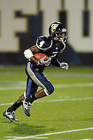 4 December 2010:  FIU wide receiver T.Y. Hilton (4) returns a kickoff in the first quarter as the Middle Tennessee State University Blue Raiders defeated the FIU Golden Panthers, 28-27, at FIU Stadium in Miami, Florida.