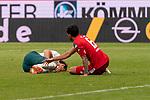 Niclas Füllkrug / Fuellkrug (Werder Bremen #11), Verletzung / verletzt / Schmerzen, Danny Latza (FSV Mainz 05 #06)<br /> <br /> <br /> Sport: nphgm001: Fussball: 1. Bundesliga: Saison 19/20: 33. Spieltag: 1. FSV Mainz 05 vs SV Werder Bremen 20.06.2020<br /> <br /> Foto: gumzmedia/nordphoto/POOL <br /> <br /> DFL regulations prohibit any use of photographs as image sequences and/or quasi-video.<br /> EDITORIAL USE ONLY<br /> National and international News-Agencies OUT.