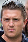 © Joel Goodman - 07973 332324 . 07/09/2013 . London , UK . EDL leader Tommy Robinson ( aka Stephen Yaxley-Lennon ) . The EDL hold a march and demonstration in London today (Saturday 7th September 2013) . Photo credit : Joel Goodman