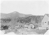 Placerville's Crystal Street looking northwest.  The RGS Depot is in the distance at left and the hotel is to the right.<br /> RGS  Placerville, CO  ca. 1915