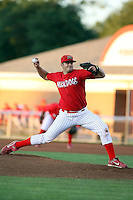 September 11 2008:  Pitcher Adam Veres of the Batavia Muckdogs, Class-A affiliate of the St. Louis Cardinals, during a game at Dwyer Stadium in Batavia, NY.  Photo by:  Mike Janes/Four Seam Images