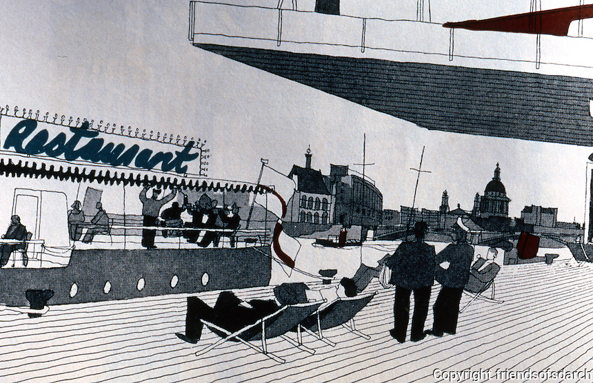 London: Gordon Cullen South Bank Scheme. TOWNSCAPE, 1961.
