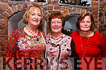 Enjoying the Womens Little Christmas celebrations in Finnigans Restaurant on Saturday night last, l-r, Noreen O'Connor (Scartaglin), Helen Lennihan (Scartaglin), and Maura Ryan (Castleisland).