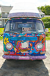 cars, details,HIPPIE BUS, VW BUS, FOR RENT,Volkswagen Symbols Of Peace Hippie, Painting,