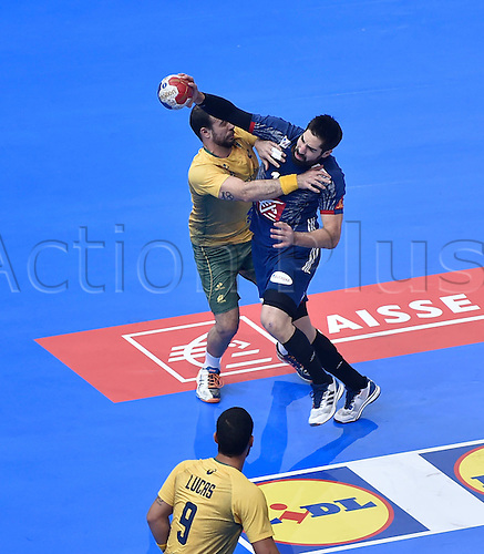 11.01.2017. Accor Arena, Paris, France. 25th World Handball Championships France versus Brazil. Nikola Karabatic (France)