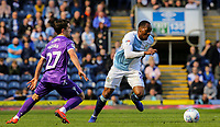Blackburn Rovers' Ryan Nyambe gets away from Stoke City's Bojan Krkic<br /> <br /> Photographer Alex Dodd/CameraSport<br /> <br /> The EFL Sky Bet Championship - Blackburn Rovers v Stoke City - Saturday 6th April 2019 - Ewood Park - Blackburn<br /> <br /> World Copyright © 2019 CameraSport. All rights reserved. 43 Linden Ave. Countesthorpe. Leicester. England. LE8 5PG - Tel: +44 (0) 116 277 4147 - admin@camerasport.com - www.camerasport.com