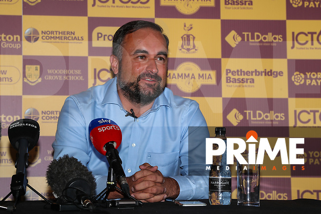 Bradford City Joint chairman Edin Rahic during Bradford City Press Conference as Bradford City appointment David Hopkin as head coach at the Northern Commercial Stadium, Bradford, England on 6 September 2018. Photo by Thomas Gadd.