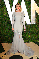 LOS ANGELES - FEB 26:  Miley Cyrus arrives at the 2012 Vanity Fair Oscar Party  at the Sunset Tower on February 26, 2012 in West Hollywood, CA
