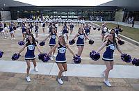 NWA Democrat-Gazette/J.T. WAMPLER The Fayetteville High School pom squad performs Sunday Sept. 27, 2015 at a dedication of Fayetteville High School. ((SEE 001 FOR EXTENDED CUTLINE INFO))
