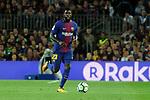 League Santander 2017/2018. Game: 03.<br /> FC Barcelona vs RCD Espanyol: 5-0.<br /> Samuel Umtiti.