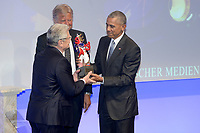 www.acepixs.com<br /> <br /> May 25 2017, Baden-Baden<br /> <br /> Former US president Barack Obama attending the German Media Award 2016 (Deutscher Medienpreis 2016) at Kongresshaus on May 25, 2017 in Baden-Baden, Germany.<br /> <br /> By Line: Famous/ACE Pictures<br /> <br /> <br /> ACE Pictures Inc<br /> Tel: 6467670430<br /> Email: info@acepixs.com<br /> www.acepixs.com