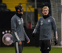 Niklas Stark (Deutschland Germany), Julian Brandt (Deutschland Germany) - 18.11.2019: Deutschland Abschlusstraining, Commerzbank Arena Frankfurt, EM-Qualifikation DISCLAIMER: DFB regulations prohibit any use of photographs as image sequences and/or quasi-video.