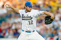 UCLA's starting pitcher Gerrit Cole in Game 6 of the NCAA Division One Men's College World Series on Monday June 21st, 2010 at Johnny Rosenblatt Stadium in Omaha, Nebraska.  (Photo by Andrew Woolley / Four Seam Images)