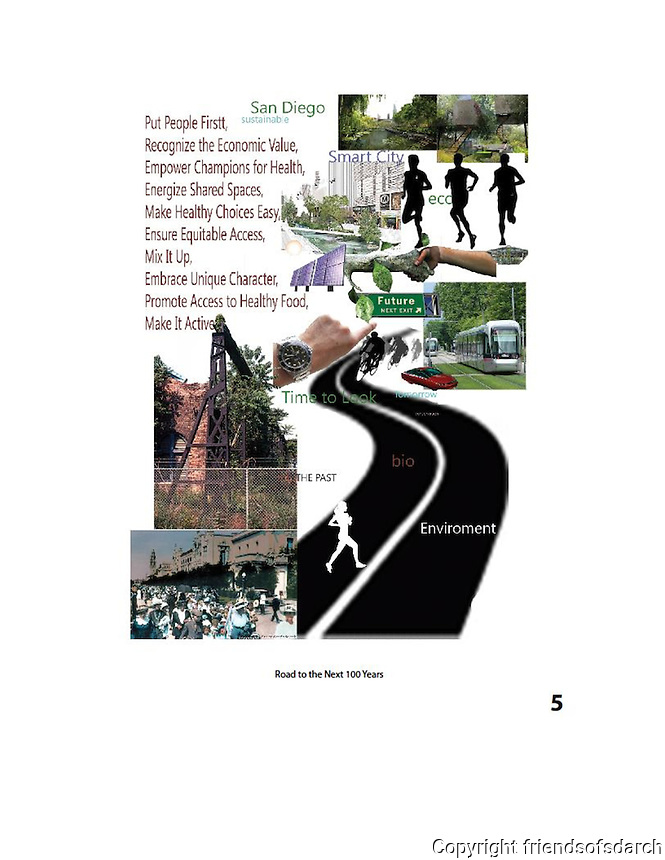 Entry for John Ingram, NSAD for FSDA Collage Competition, 2015. Road to the Next 100 Years.