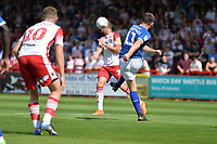 Connor Jennings of Tranmere Rovers clears the ball during Stevenage vs Tranmere Rovers, Sky Bet EFL League 2 Football at the Lamex Stadium on 4th August 2018