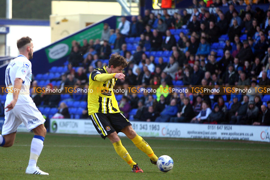 Billy Bingham of Dagenham and Redbridge scores the third Daggers goal - Tranmere Rovers vs Dagenham and Redbridge - SkyBet League Two football at the Prenton Park Stadium on  07/03/15 - MANDATORY CREDIT: Dave Simpson/TGSPHOTO - Self billing applies where appropriate - 0845 094 6026 - contact@tgsphoto.co.uk - NO UNPAID USE