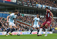 Blackburn Rovers' Charlie Mulgrew and Aston Villa's Ahmed Elmohamady<br /> <br /> Photographer Rachel Holborn/CameraSport<br /> <br /> The EFL Sky Bet Championship - Blackburn Rovers v Aston Villa - Saturday 15th September 2018 - Ewood Park - Blackburn<br /> <br /> World Copyright &copy; 2018 CameraSport. All rights reserved. 43 Linden Ave. Countesthorpe. Leicester. England. LE8 5PG - Tel: +44 (0) 116 277 4147 - admin@camerasport.com - www.camerasport.com
