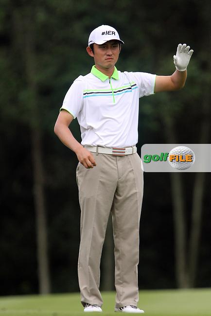 Lee Sung (KOR) on the 1st during Round 3 of the 2013 Maybank Malaysian Open, Kuala Lumpur Golf and Country Club, Kuala Lumpur, Malaysia 23/3/13...(Photo Jenny Matthews/www.golffile.ie)