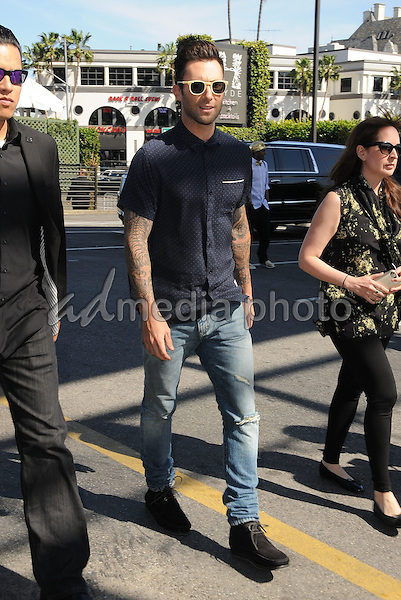 "21 April 2016 - Hollywood, California - Adam Levine. Arrivals for the ""The Voice"" Karaoke For Charity held at HYDE Sunset: Kitchen + Cocktails. Photo Credit: Birdie Thompson/AdMedia21 April 2016 - Hollywood, California - Christina Aguilera. Arrivals for the ""The Voice"" Karaoke For Charity held at HYDE Sunset: Kitchen + Cocktails. Photo Credit: Birdie Thompson/AdMedia"