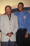 Earl Woods and Tiger Woods attends the Tiger Woods Foundation Benefit Auction at the All Star Cafe on on June 16, 1997 in New York City.