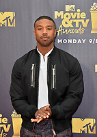 Michael B. Jordan at the 2018 MTV Movie &amp; TV Awards at the Barker Hanger, Santa Monica, USA 16 June 2018<br /> Picture: Paul Smith/Featureflash/SilverHub 0208 004 5359 sales@silverhubmedia.com