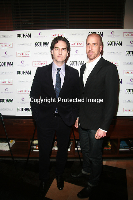 Writers and Creators of Damages Daniel Zelman and Todd A. Kessler Attend Rose Byrne and Glenn Close host Gotham magazine cover party at Asellina, presented by Cosmopolitan Las Vegas with Pisco Porton, NY 9/20/11