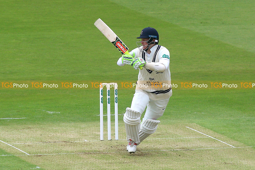 Sam Robson hits four runs for Middlesex during Middlesex CCC vs Essex CCC, Specsavers County Championship Division 1 Cricket at Lord's Cricket Ground on 21st April 2017