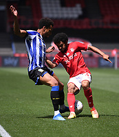 28th June 2020; Ashton Gate Stadium, Bristol, England; English Football League Championship Football, Bristol City versus Sheffield Wednesday; Jacob Murphy of Sheffield Wednesday competes for the ball with Jay Dasilva of Bristol City along the wing