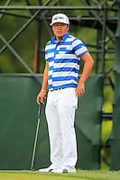 Hideto Tanihara (JPN) on the 1st green during Thursday's Round 1 of the 2014 PGA Championship held at the Valhalla Club, Louisville, Kentucky.: Picture Eoin Clarke, www.golffile.ie: 6th August 2014