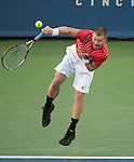 Alex Bogomolov (RUS)  loses at the Western and Southern Financial Group Masters Series in Cincinnati on August 15, 2012
