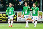 S&ouml;dert&auml;lje 2015-10-05 Fotboll Superettan Syrianska FC - J&ouml;nk&ouml;pings S&ouml;dra :  <br /> J&ouml;nk&ouml;ping S&ouml;dras Tommy Thelin , Daryl Smylie och Fredric Fendrich deppar under matchen mellan Syrianska FC och J&ouml;nk&ouml;pings S&ouml;dra <br /> (Foto: Kenta J&ouml;nsson) Nyckelord:  Syrianska SFC S&ouml;dert&auml;lje Fotbollsarena J&ouml;nk&ouml;ping S&ouml;dra J-S&ouml;dra depp besviken besvikelse sorg ledsen deppig nedst&auml;md uppgiven sad disappointment disappointed dejected