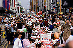 Silver Jubilee celebrations, London 1977.Uk Oxford street London