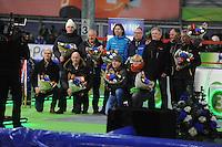 SCHAATSEN: GRONINGEN: Sportcentrum Kardinge, 18-01-2015, KPN NK Sprint, oud-sprintkampioenen, ©foto Martin de Jong