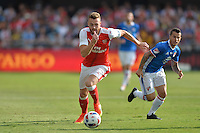San Jose, CA - Thursday July 28, 2016: Calum Chambers during a Major League Soccer All-Star Game match between MLS All-Stars and Arsenal FC at Avaya Stadium.