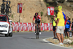 Jelle Wallays (BEL) Lotto-Soudal on the slopes of Sierra de la Alfaguara near the finish of Stage 4 of the La Vuelta 2018, running 162km from Velez-Malaga to Alfacar, Sierra de la Alfaguara, Andalucia, Spain. 28th August 2018.<br /> Picture: Eoin Clarke   Cyclefile<br /> <br /> <br /> All photos usage must carry mandatory copyright credit (&copy; Cyclefile   Eoin Clarke)