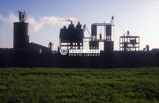 Silhouette of factory; Punjab; India,