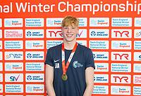 Picture by Allan McKenzie/SWpix.com - 13/12/2017 - Swimming - Swim England Winter Championships - Ponds Forge International Sport Centre - Sheffield, England - Jonathon Adam takes gold in the mens open 100m backstroke.