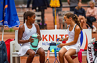Hilversum, Netherlands, Juli 31, 2019, Tulip Tennis center, National Junior Tennis Championships 12 and 14 years, NJK, Girls Doubles: Silver Bijlsma (NED) (R) and Megan Caffin (NED)<br /> Photo: Tennisimages/Henk Koster