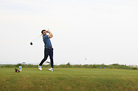 Gerard Dunne (Co. Louth) on the 1st tee during Round 1of the Flogas Irish Amateur Open Championship 2019 at the Co.Sligo Golf Club, Rosses Point, Sligo, Ireland. 16/05/19<br /> <br /> Picture: Thos Caffrey / Golffile<br /> <br /> All photos usage must carry mandatory copyright credit (© Golffile | Thos Caffrey)