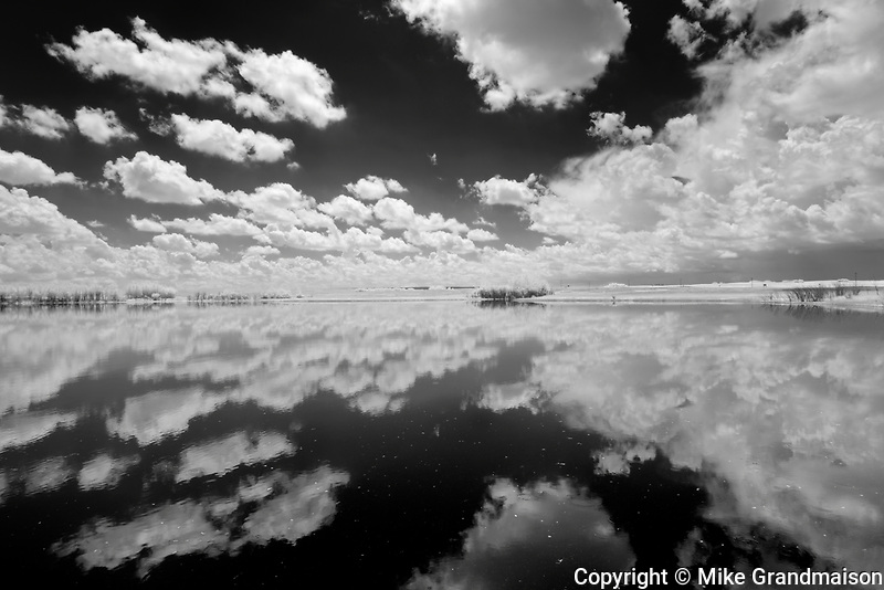 Clouds reflected in wetland<br />